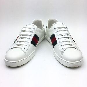 GUCCI New Ace Clean Web Stripe Sneaker sz …
